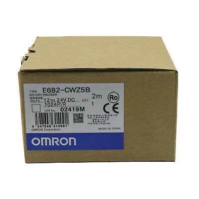 Omron E6b2-cwz5b 1024pr 1224v Dc Rotary Encoder New One Year Warranty