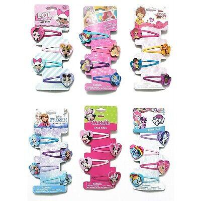 Disney Princess Hair (4 Hair Snap Clips ~  Disney Frozen Princess Minnie My Little Pony LOL)