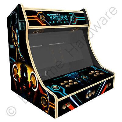 "BitCade 2 Player 24"" Bartop Arcade Machine Cabinet with Tron Artwork"