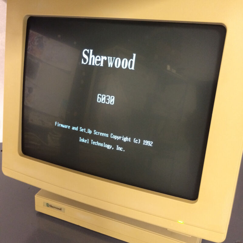 Sherwood 6030 ST Terminal with White Screen