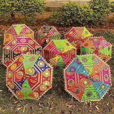 5PC Boda Decorativo Indio Mujer Parasol Paraguas Mehndi Decoración Hogar