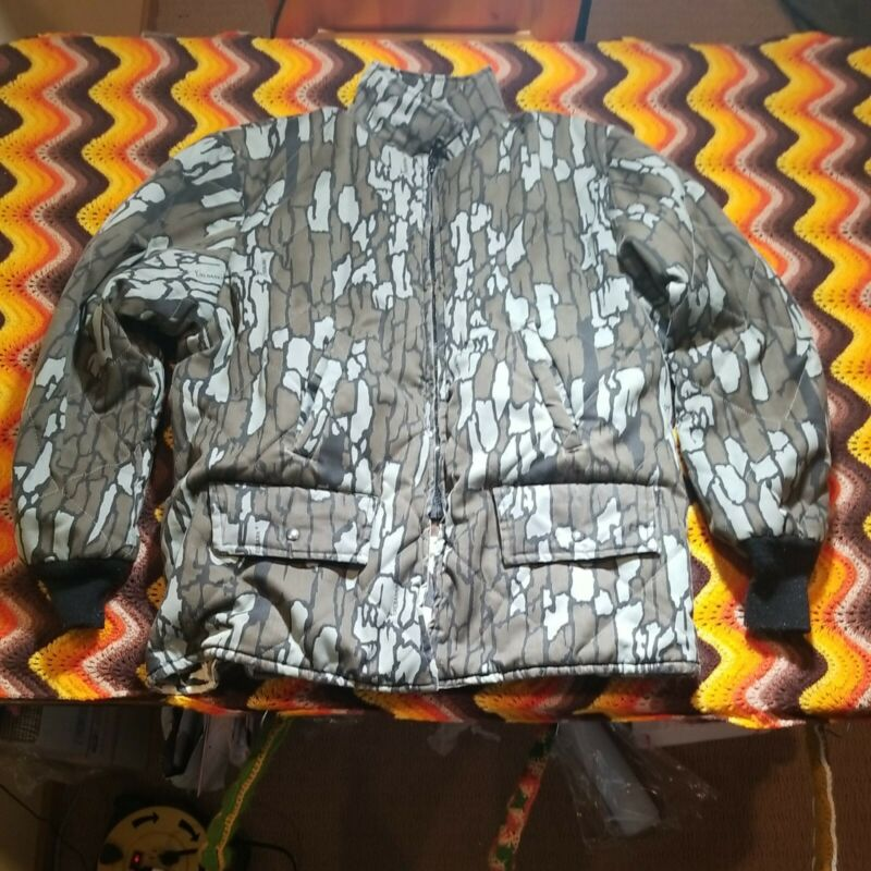 Johnson Garment Made In USA Reversable Trebark Snow Camo Jacket XXL