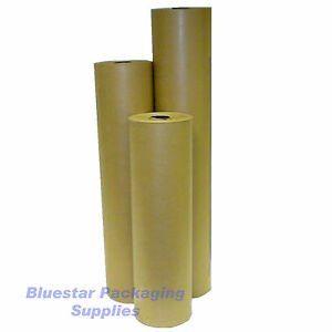 50m-900mm-Pure-Kraft-Brown-Wrapping-Paper-Roll-90gsm