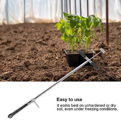 Stainless Soil Sample Probe Soil Core Sampler with Foot Peg for Garden Lawn Farm