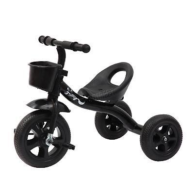 FoxHunter Child Children Kids Trike Tricycle 3 Wheeler Bike Steel Frame Black