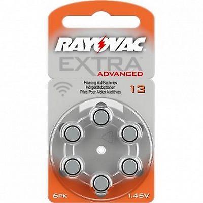 60 x Rayovac Extra Advanced Hörgerätebatterien 13 13AU-6XEMF 10 Blister