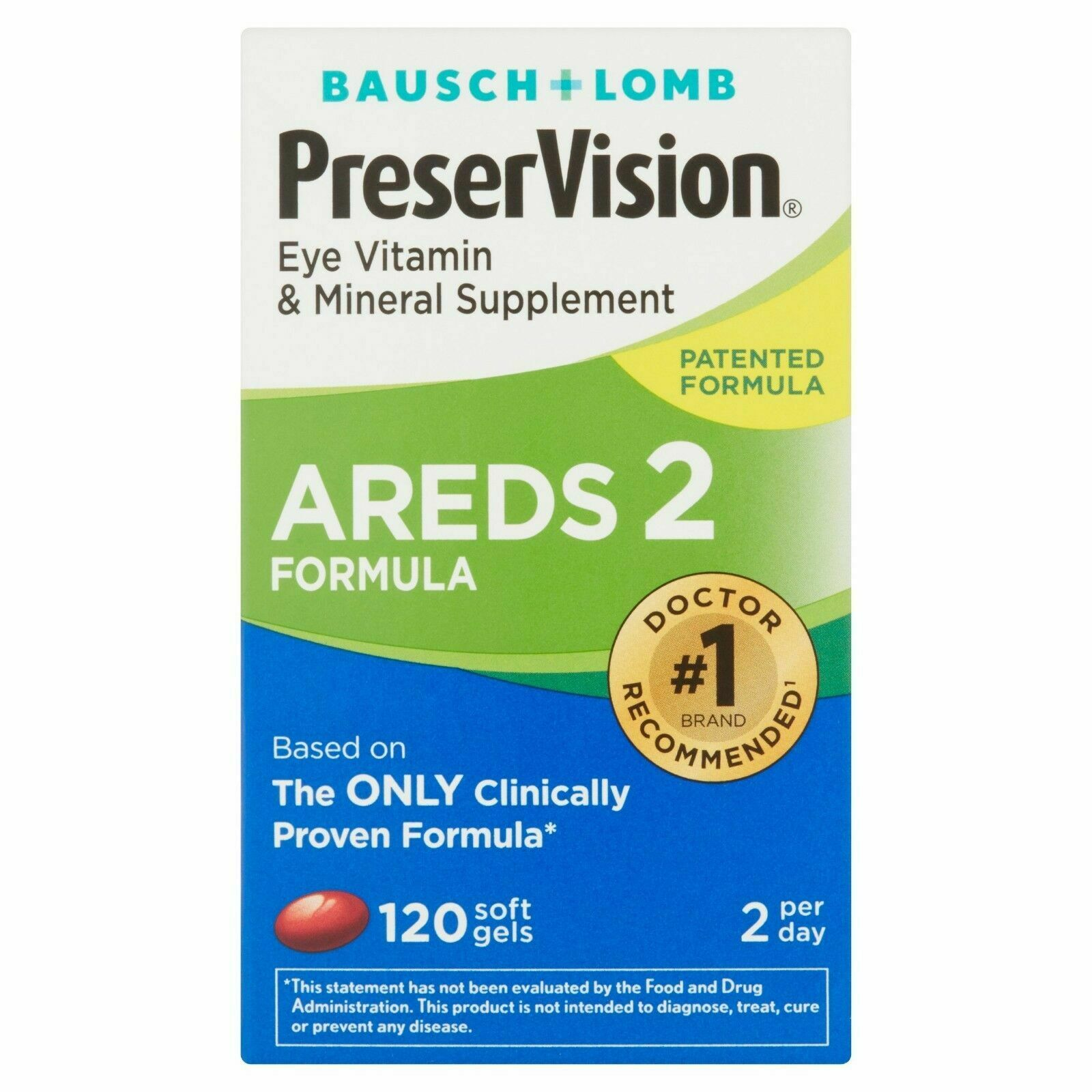 Preservision Areds 2 Vitamin & Mineral Supplement 120 Count
