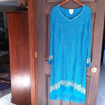 TBD THE BEST DRESSED BLUE SEQUIN EVENING DRESS