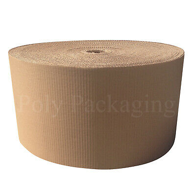 300mm x 75m x 1 Roll CORRUGATED CARDBOARD PAPER ROLLS Postal Packaging Parcels