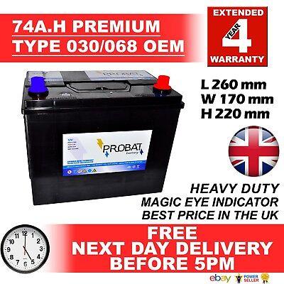 030 / 068 / 071 12V Heavy Duty Car Battery fits many TOYOTA LANDCOVER MITSUBISHI