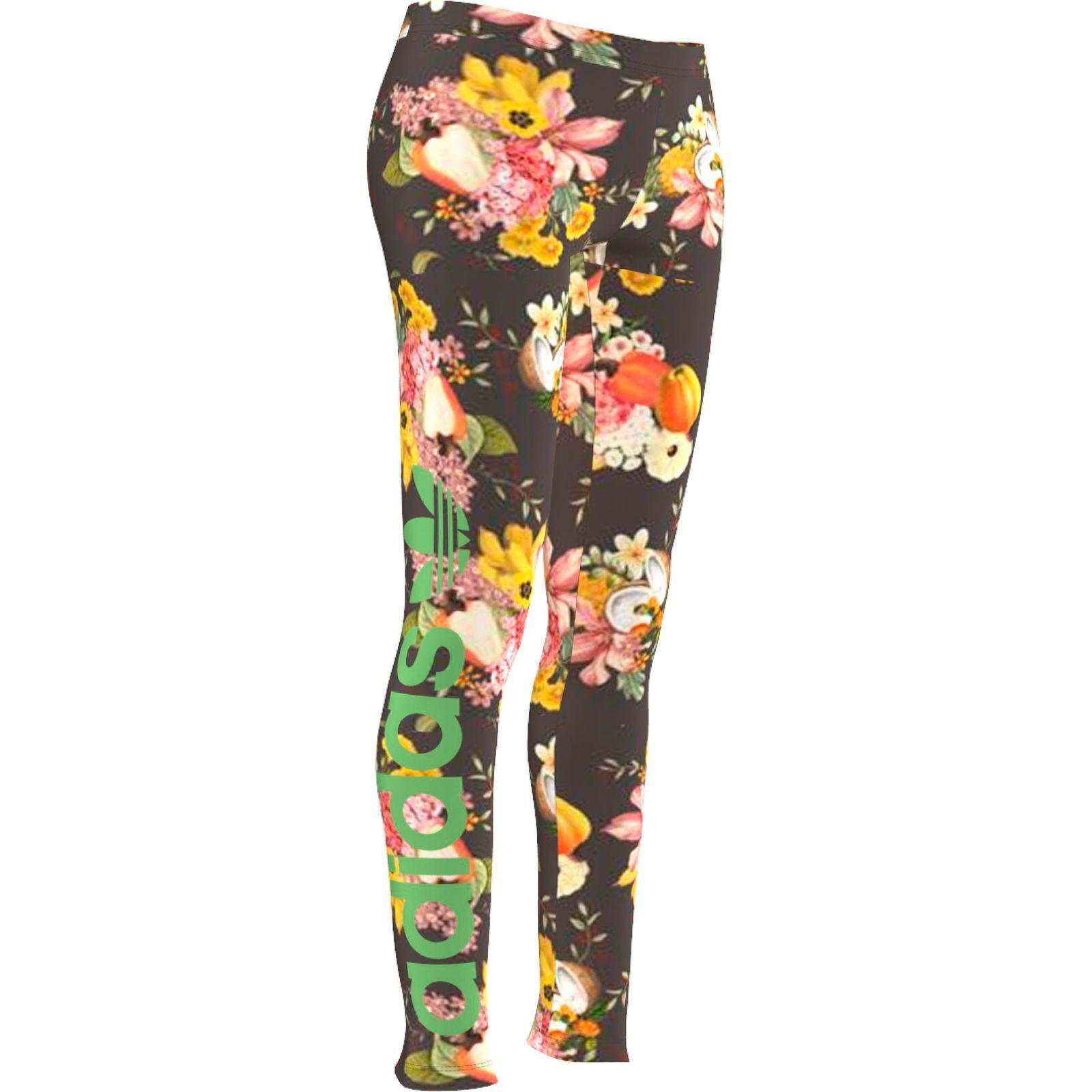 adidas Originals The Farm Jardim Leggings Sport & Freizeit Hose Floral Blumen