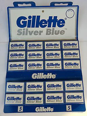 100 Gillette Silver Blue Double Edge Razor Blades Made in Russia for sale  Montreal