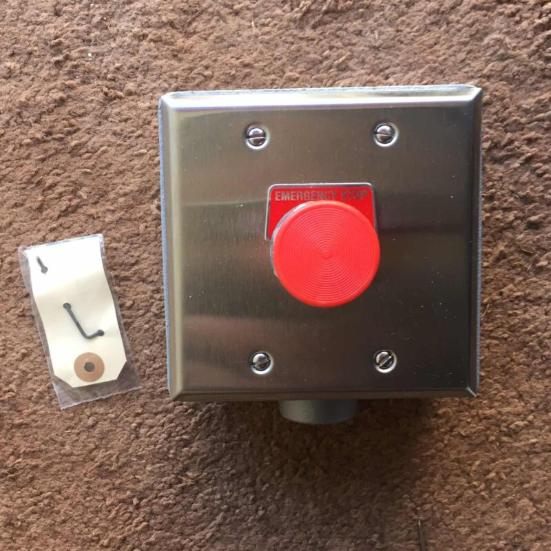 ASCO 173A20 SURFACE MOUNT EMERGENCY STOP CONTROL STATION