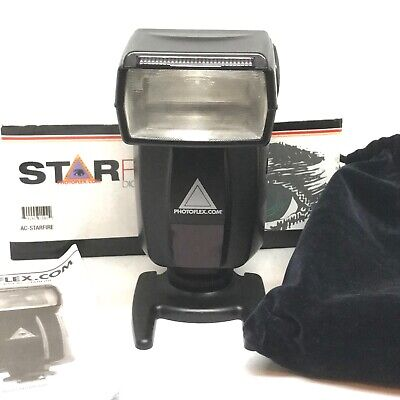 Photoflex Starfire Shoe Mount Portable Studio Flash Strobe Variable Power Slave Ac Slave Flash