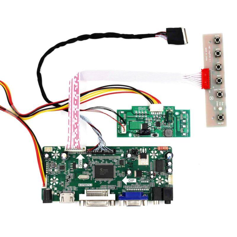 """HD MI DVI VGA Audio LCD Driver Board For 15.4"""" LTN154BT03 LP154WP2 1440x900 LCD"""