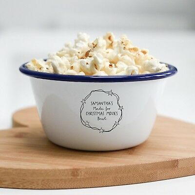 Personalised Christmas Movies Popcorn Bowl Christmas Eve Gift - Personalized Popcorn Bowl