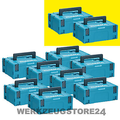 Makita MAKPAC Gr. 2 - 10er Set - Werkzeugkoffer mit Festool Systainer kompatibel