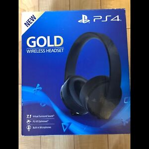 BRAND NEW - PlayStation 4 Gold Wireless Headset