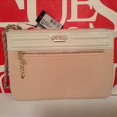 Guess ROSANNA Handbag Purse Wallet  Wristlet Evening Hand Pouch tote Bag BLUSH