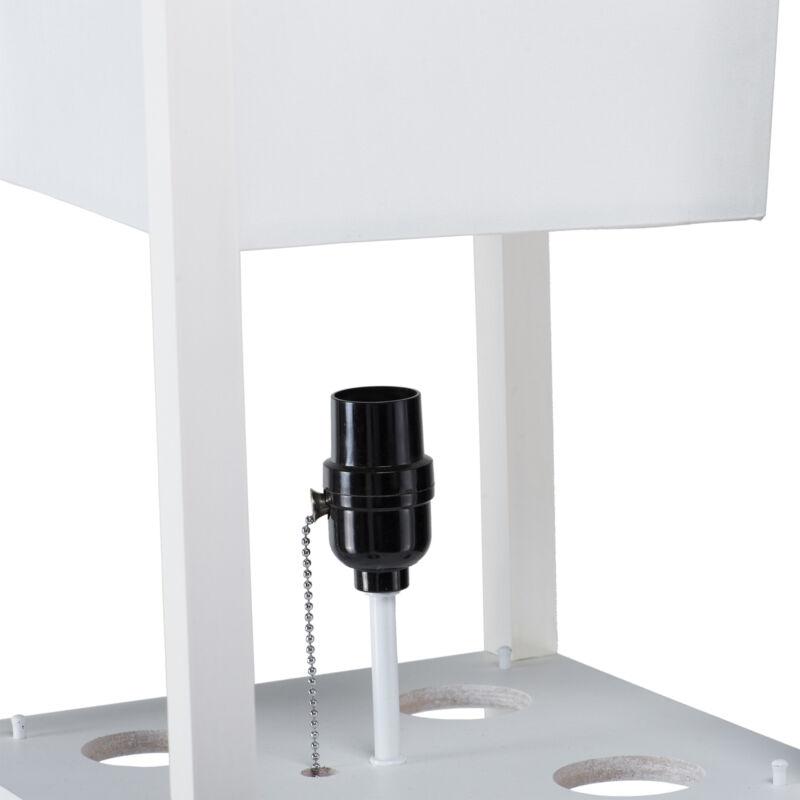 Contemporary Lamp w. Shelves Shade Minimalist