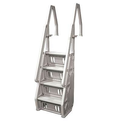 "Vinyl Works In Step 46 - 60"" Above Ground Swimming Pool Ladder, Taupe (Open Box)"