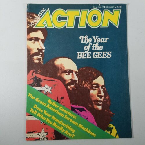 Bee Gees Scholastic Action Magazine Oct 1978 Vintage