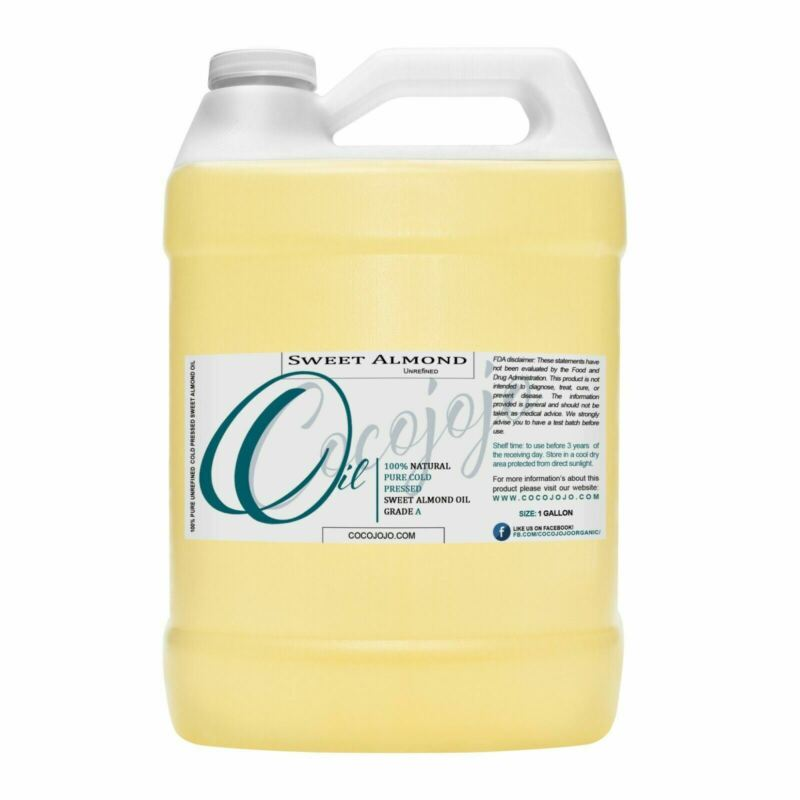 32 Oz or 1 gallon sweet almond oil pure unrefined cold pressed grade carrier oil