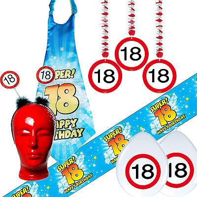 Geburtstagsdeko zum 18. Achtzehnten  Geburtstag Partyzubehör Dekoration Deko (Achtzehnten Geburtstag Dekorationen)