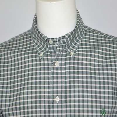 Mint BROOKS BROTHERS Madison Oxford Supima Cotton Casual Logo Shirt Sz L Green