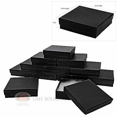 Lot Of 12 Black Cotton Filled Boxes Jewelry Gift Boxes Bracelet Bangle Box 3x3