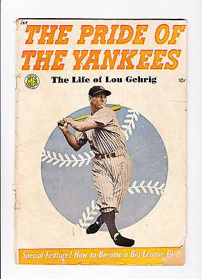 """The Pride Of The Yankees   : 1949 :   : """"The Life Of Lou Gehrig"""" :"""