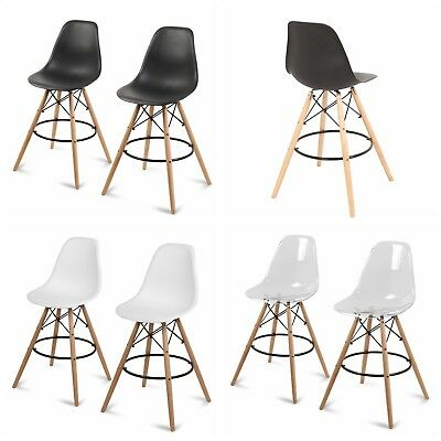 Set of 2 Counter Height High Chair Island Bar Stool Patio Dining Bar Pub Chair Bar Stool High Chair