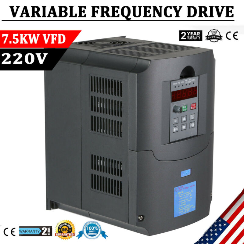 7.5KW 220V Variable Frequency Drive Inverter 10HP CNC VFD VSD Single To 3 Phase
