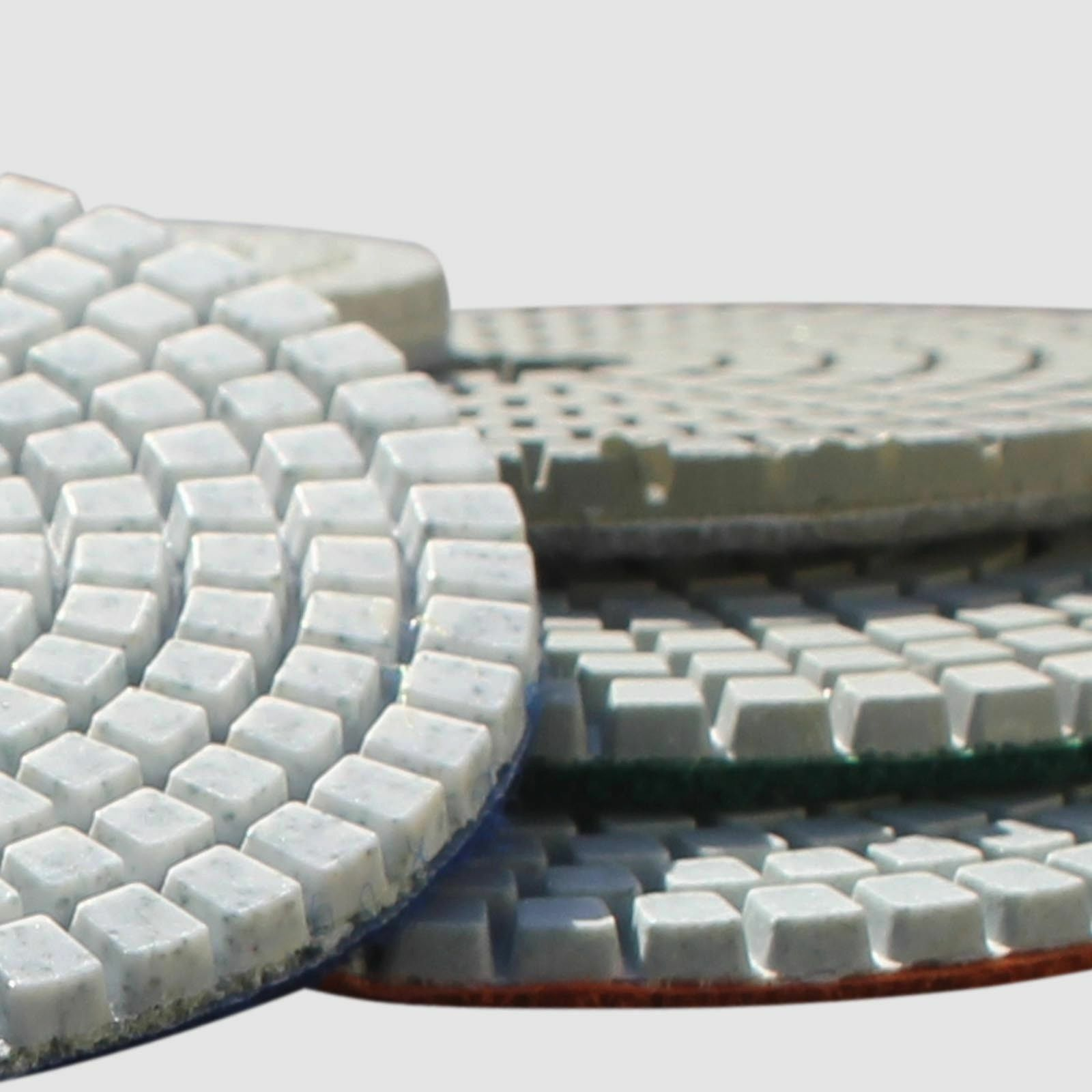 Diamond Polishing Pads 4 Inch Wet Dry 8 Piece Set Granite