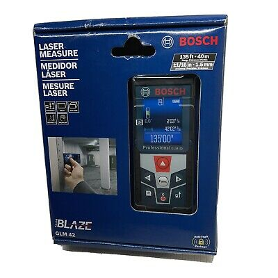 New Bosch Blaze Glm 42 135 Ft. Laser Measure With Full-color Display