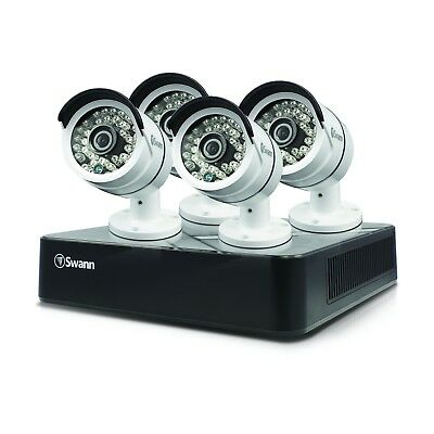 New Swann SODVK-8720P124-US 8 Channel 720p 500GB Security DVR & 4x 720p Cameras