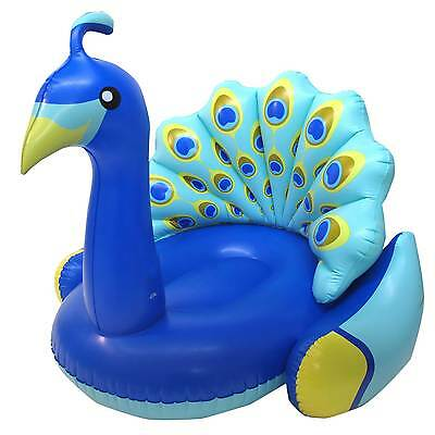 Swimline Giant Peacock Lounger Swimming Pool Inflatable Anim