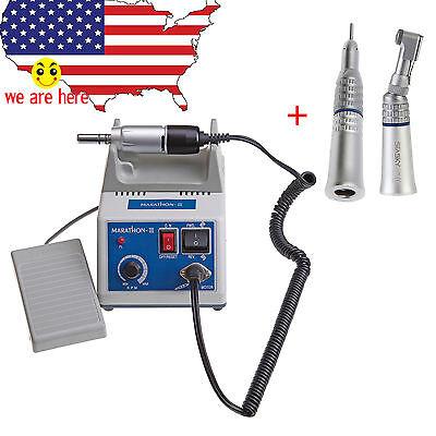 Dental Lab Marathon Micromotor 35k Rpm Straight Handpiece Contra Angle W