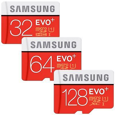 32/64/128GB Samsung EVO plus Micro SD SDHC/SDXC CLASS 10