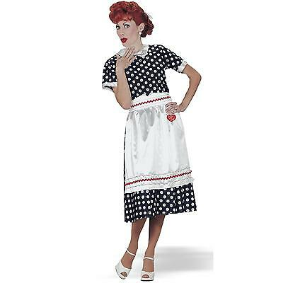 I Love Lucy - Polka Dot Dress Lucy Adult Costume / American Gods