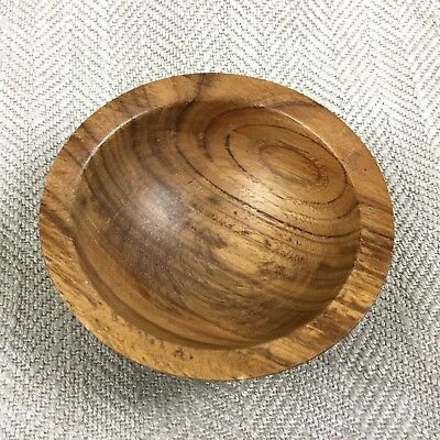 Vintage Wooden Bowl Signed Turned Wood British Artist Richard Shock