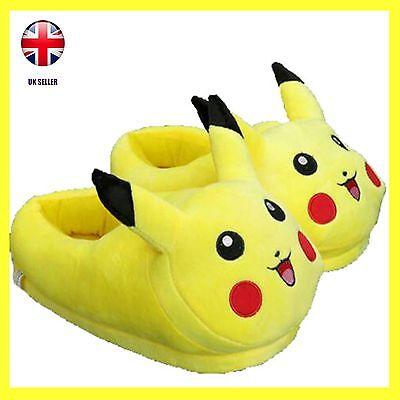 Pokemon Pickachu Stuffed Unisex Childrens Plush Non Slip Slippers Gift ideas