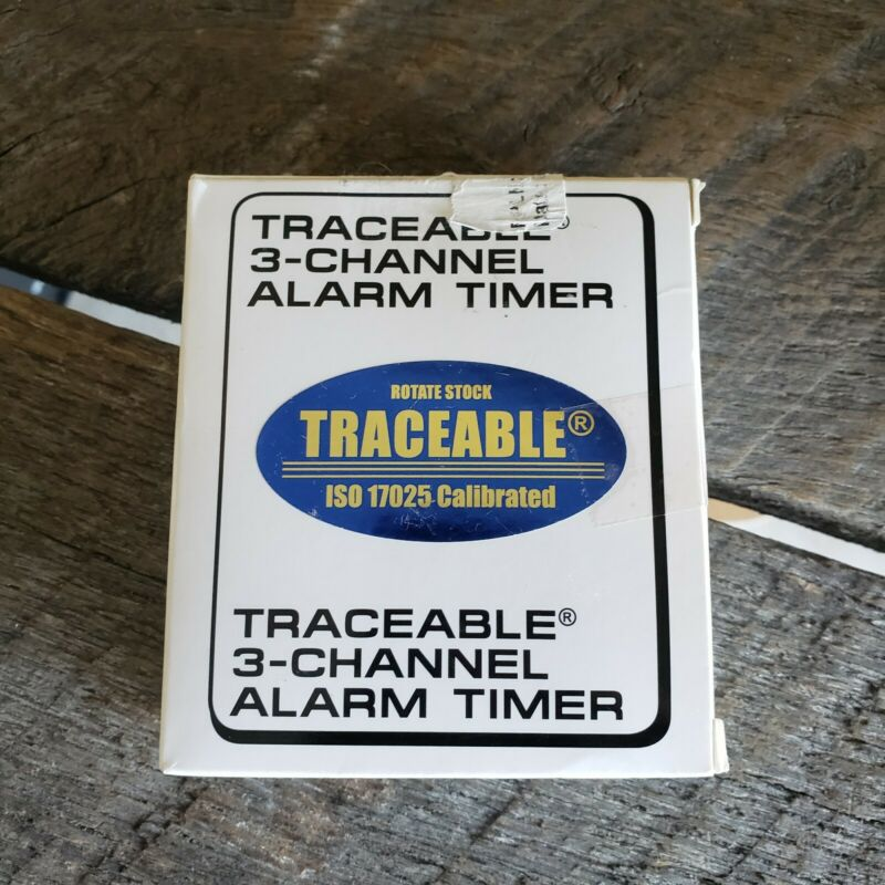 TRACEABLE 3 Channel Alarm Timer Fisher Scientific ISO 17025 Calibrated