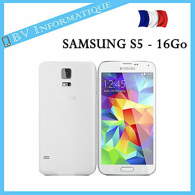 smartphone samsung galaxy s5 4g 16go blanc d bloqu. Black Bedroom Furniture Sets. Home Design Ideas