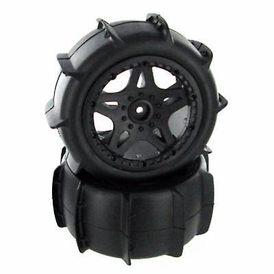 - Mounted Pro Paddle Tires True Beadlock Rims 12mm Hex Slash Blitz New FREE SHIP!