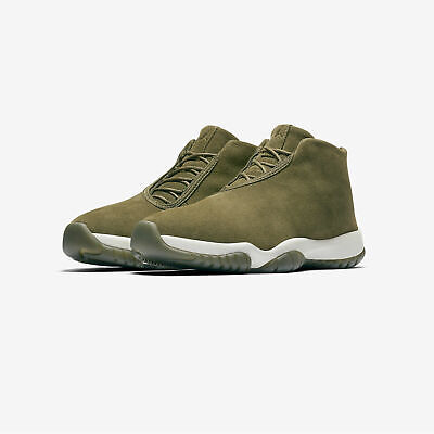 NIKE WOMENS AIR JORDAN FUTURE Size 7 Shoes Olive Canvas AR0726 300...