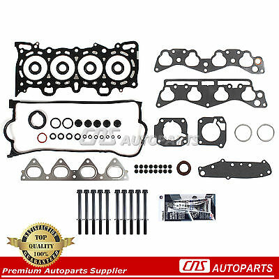 1.6 Head Gasket Kit - 96-00 Honda 1.6L SOHC Cylinder Head Gasket Bolt Kit Set D16Y5 D16Y7 D16Y8 Engine