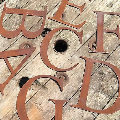 5-12 Industrial Letters Metal Rustic Numbers Symbols Shop Sign Lettering Rusty