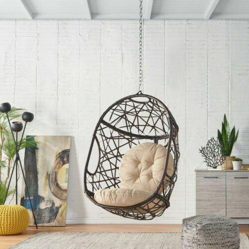 Lannah Indoor/Outdoor Wicker Basket Hanging Chair (NO STAND) Home & Garden