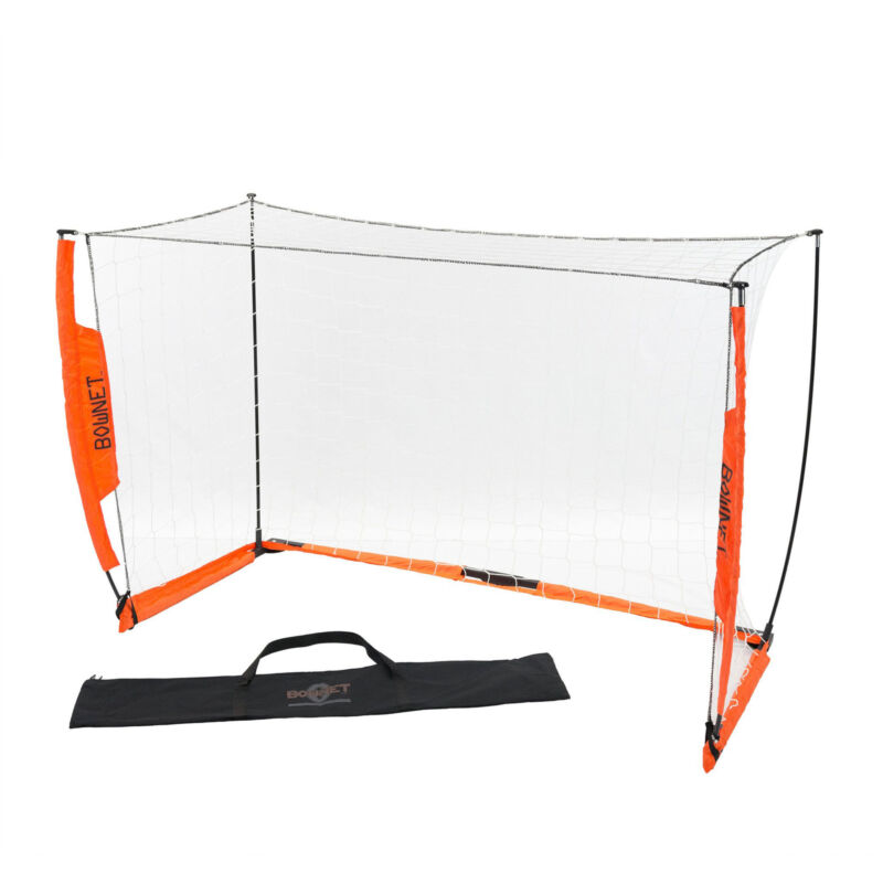 Bownet 4 Foot x 6 Foot Portable Youth Training Practice Soccer Goal, Orange